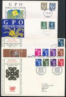 Nagy-Britannia- Wales 1967 - 1976 7 klf FDC