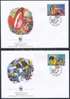 2003 WWF: Halak sor 4 db FDC-n Mi 553-556