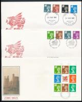 Wales 1984-1992 6 klf FDC