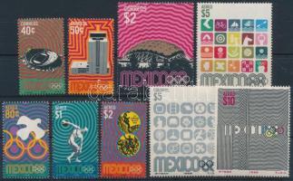 1968 Nyári Olimpia, Mexikó 9 érték Mi 1284-1292