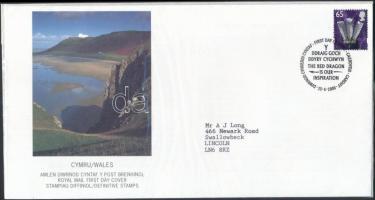 Wales 2000-2005 3 klf FDC