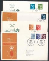 Észak-Írország 1974-1982 7 klf FDC