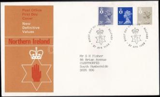 Észak-Írország 1983 Forgalmi sor Mi 38-40 FDC-n