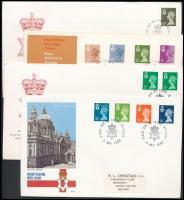 Észak-Írország 1984-1991 7 klf FDC