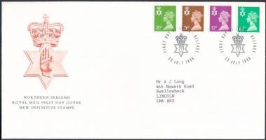 Észak-Írország 1996 Forgalmi sor Mi 67-70 FDC-n