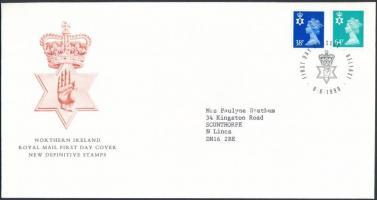 Észak-Írország 1999 Forgalmi sor 2 értéke Mi 76-77 FDC-n