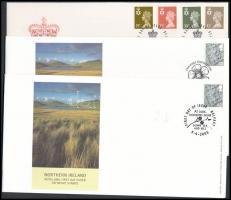 Észak-Írország 1993-2005 3 klf FDC-n