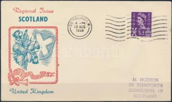 Skócia 1958 Mi 1x FDC-n