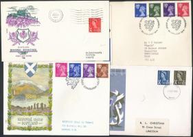 Skócia 1966-1974 7 klf FDC
