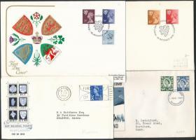 Skócia 1966-1982 10 klf FDC