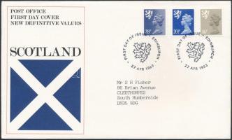 Skócia 1983 Forgalmi sor MI 40-42 FDC-n