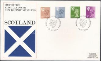 Skócia 1984 Forgalmi sor MI 43-46 FDC-n
