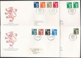 Skócia 1986-1991 6 klf FDC