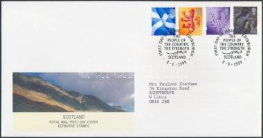 Skócia 1999 Forgalmi sor Mi 77-80 FDC-n