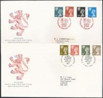 Skócia 1989-1993 2 klf FDC