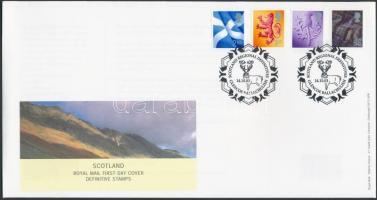 Skócia 2003 Forgalmi sor Mi 84-87 FDC-n