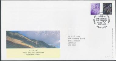 Skócia 2006 Forgalmi sor Mi 90-91 FDC-n