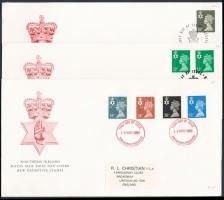 Észak-Írország 1986-1989 3 klf FDC