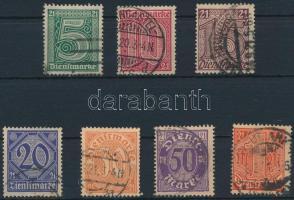 1920 Hivatalos sor Mi 16-22