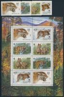 1993 WWF: Tigris sor + kisív Mi 343-346