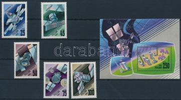 1993 Műhold sor Mi 301-304 + blokk Mi 4