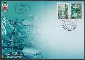 2001 Europa CEPT, Éltető víz sor Mi 200-201 FDC-n