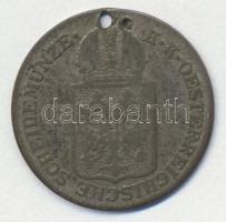 Ausztria 1849A 6kr Ag T:3 ly. Austria 1849A 6 Kreuzer Ag C:F hole
