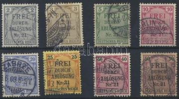 1903 Hivatalos sor Mi 1-8