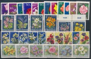 Virág motívum 4 klf sor, Flowers 4 diff sets