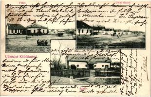 Köbölkút, Gbelce; Fő tér, Utca, Raktár, kiadja Wiesenberg Dávid / main square, street, storage (vágott / cut)