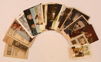 cca 1910-1950 21 db különféle vallási témájú fotólap, szentkép, aprónyomtatvány