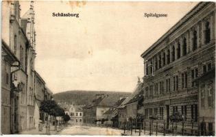 Segesvár, Schassburg, Sighisoara; Kórház utca, H. Zeidner / Spitalgasse / street