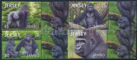 2012 Gorilla ívszéli sor Mi 1671-1674