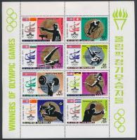 Summer Olympics medalists mini sheet, Nyári olimpia érmesei kisív
