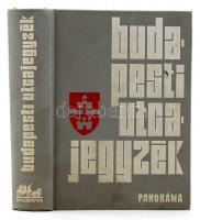 1974 Dr. Károly István (szerk.): Budapesti utcajegyzék. Budapest, 1974, Panoráma. Kiadói műbőr kötés.