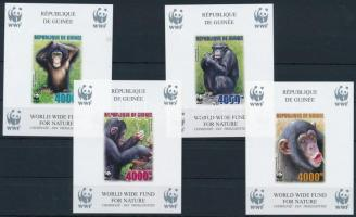 WWF: Csimpánz vágott blokksor WWF Chimpanzee imperforated blockset