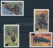 WWF Chimpanzee overprinted set, WWF: Csimpánz felülnyomott sor