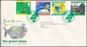 1992 Környezetvédelem, gyermekrajz sor Mi 1414-1417 FDC-n