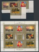 1998 Festmény ívszéli sor + kisív Mi 651-654