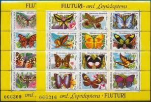 Lepkék sorszámozott blokksor, Butterfly numbered blockset