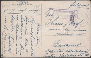 1916 Képeslap haditengerészeti postával K.U.K. SEEMINENKOMMANDO I + MFP POLA d
