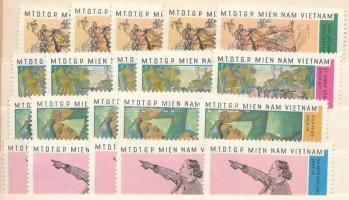 Viet-Kong 1968 Festmény sor 5 x Mi 15-18 (Mi EUR 100,-)