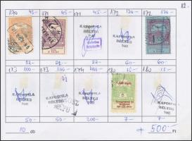 677 db magyar bélyeg 7 db cserefüzetben (Maradványérték: ~16.000)