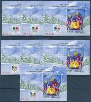 1992 Téli Olimpia, Albertville 11 db blokk Mi 270 (Mi EUR 110,-)