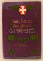1910 Fehér Kereszt Országos Lelencház Egyesület naptára. Kiadói szecessziós díszítésű egészvászon kötésben. Benne a Fehér Kereszt egy körlevelével. A borítója némileg kopott, napszítta.