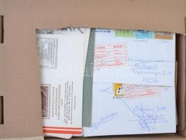 Vegyes tétel, benne vasút, levelek, okmányok, FDC-k, stb (175 db) barna karton dobozban