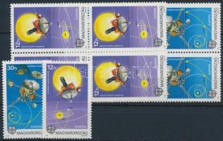 1991 Európa az űrben sor + négyestömb sor (5.000) (gumihiba / gum disturbance)