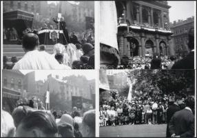 cca 1938 Budapesti zarándoklat, Vérmezőtől a Hősök teréig, 44 db korabeli negatívról készült modern nagyítás, 9x13 cm