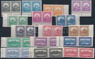 1926 Pengő-fillér (I) A sor ívszéli párokban / Mi 411-426 margin set in pairs (50.000) (apró ráncok / small creases)