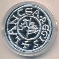DN A legértékesebb magyar érmék - Szent István Lancea Regis ezüstdénárjának replikája ezüstözött Cu emlékérem COPY beütéssel, tanúsítvánnyal (40mm) T:PP